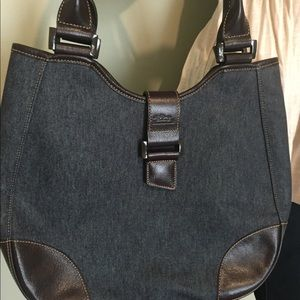 Longchamp Like New Denim Shoulder Bag